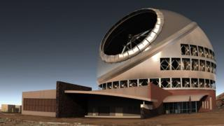 An artist's rendition of the finished telescope