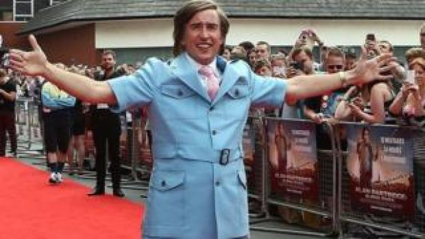 Alan Partridge on the red carpet in Anglia Square, Norwich