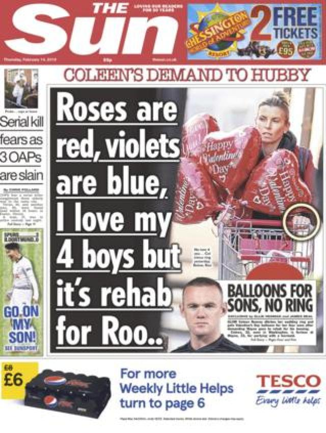 Sun front page 14/02/19