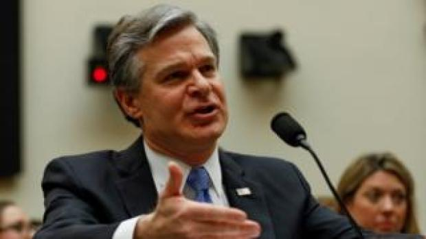 FBI Director Christopher Wray, pictured in February testifying before Congress, described a wide-ranging campaign by the Chinese government to disrupt US life