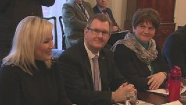DUP at Stormont Castle for talks