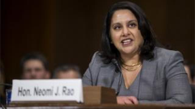 Neomi Rao at her confirmation hearing