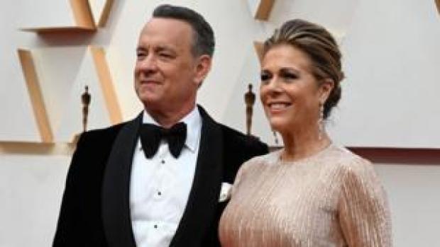 US actor Tom Hanks and wife Rita Wilson
