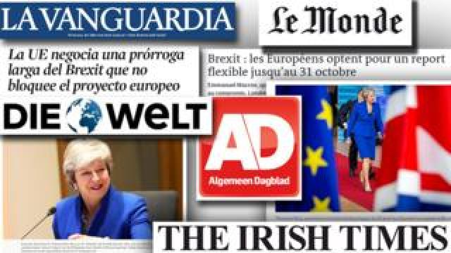 A selection of front pages