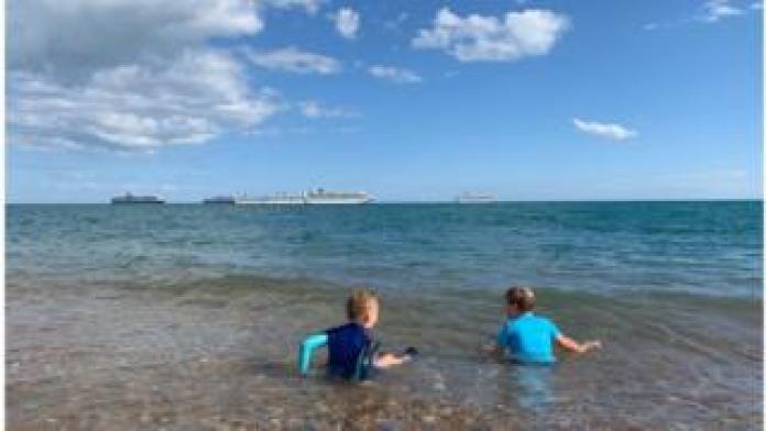 Cruise ships off Weymouth