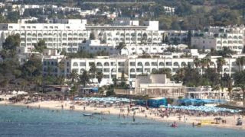 Beach scene, Sousse, Tunisia