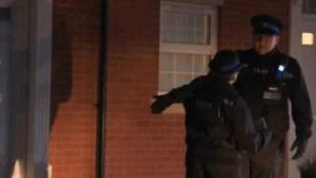 Officers remained at the scene throughout Thursday