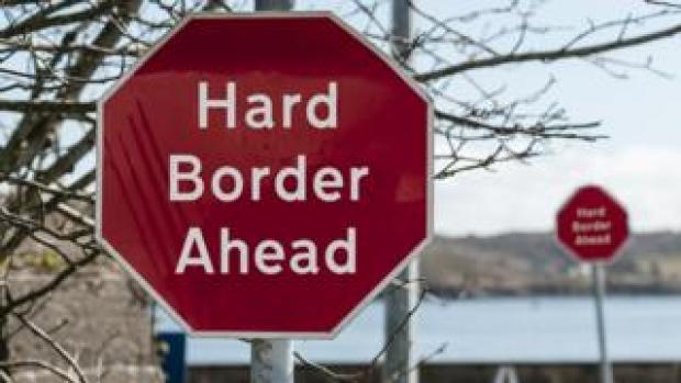 Hard border sign