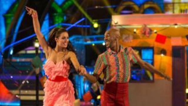 Danny John-Jules and his dance partner Amy Dowden