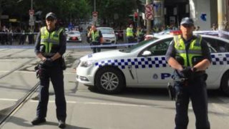 Police on Bourke Street, Melbourne