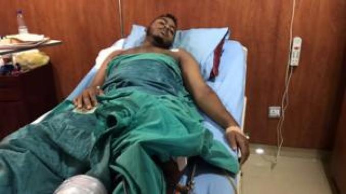 An injured man in Khartoum, Sudan. Photo: 7 June 2019