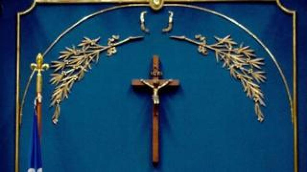 NEWS A crucifix hangs in Quebec's National Assembly