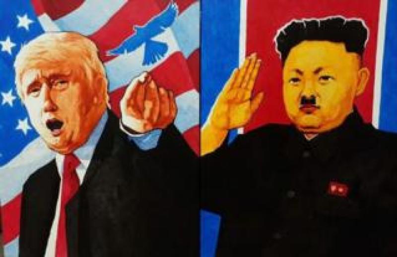North Korean artist's painting of the 12 June summit