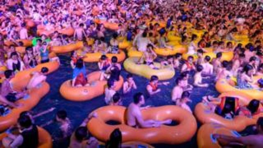 Wuhan swimming pool 15 August