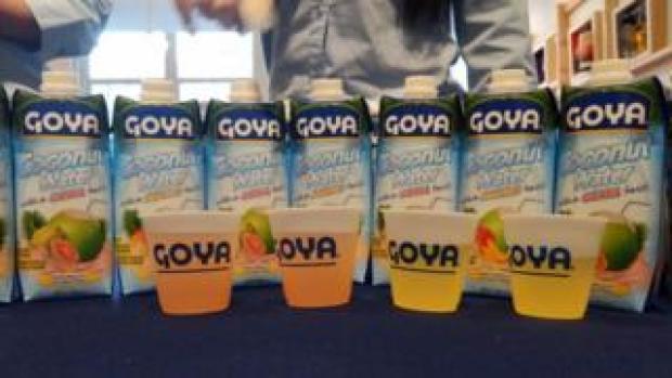Goya Foods coconut water (file photo)