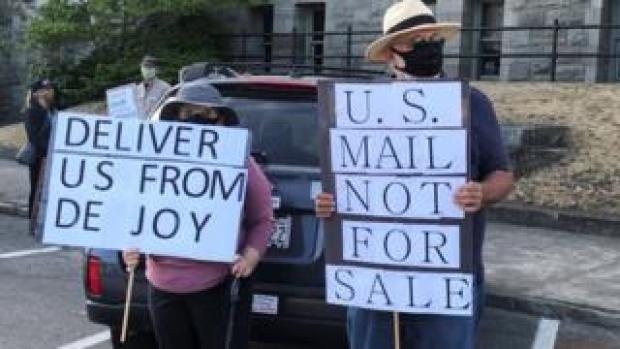 USPS supporters in Washington