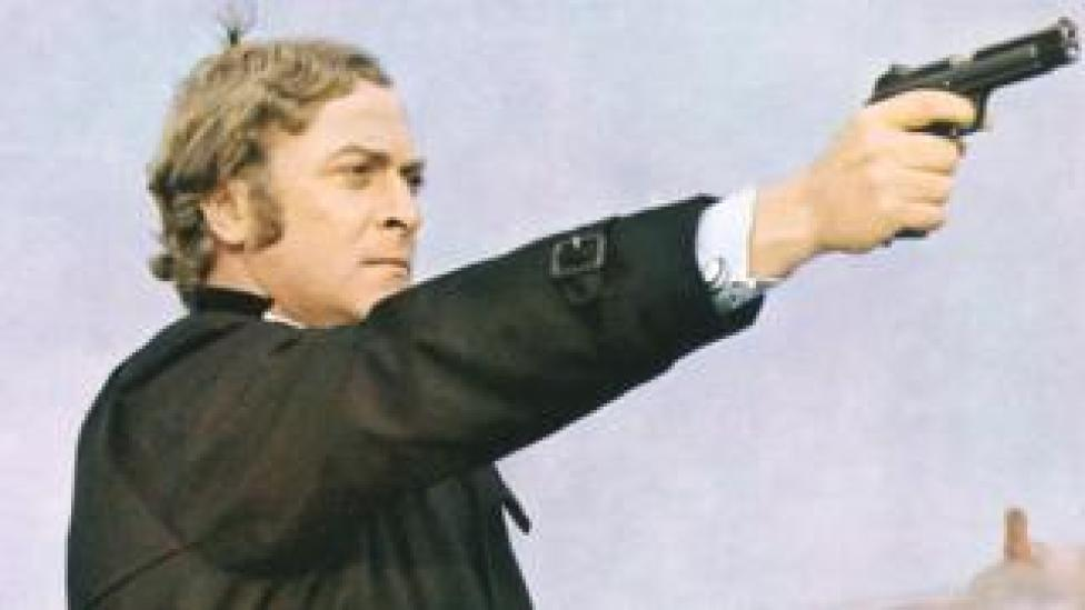 Michael Caine as Jack Carter in the film 'Get Carter',