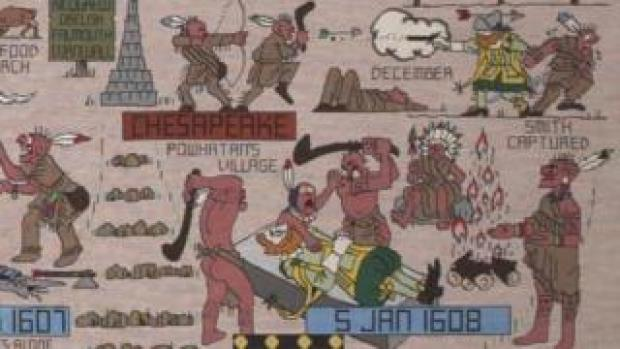 American Indians depicted in the tapestry