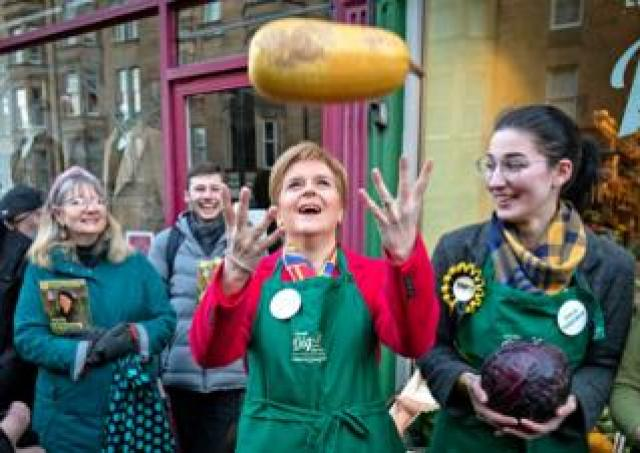 SNP leader and Scottish First Minister Nicola Sturgeon meets constituents in Edinburgh