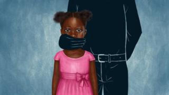 Illustration of child rape