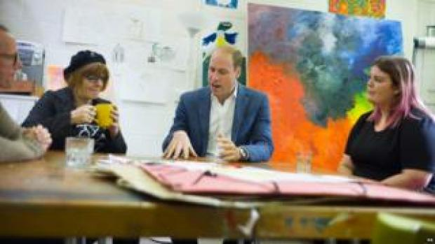 Prince William at the Spitalfields Crypt Trust