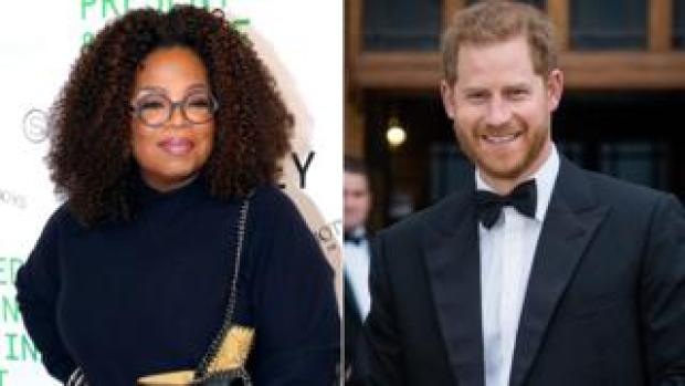 Oprah Winfrey and the Duke of Sussex