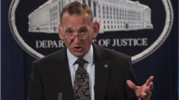 Director of the US Secret Service Randolph Alles speaks during a press conference at the Department of Justice in Washington, DC on October 26, 2018