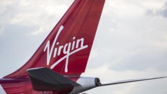 A Virgin Airways aircraft is pictured at Heathrow Airport in October 2016