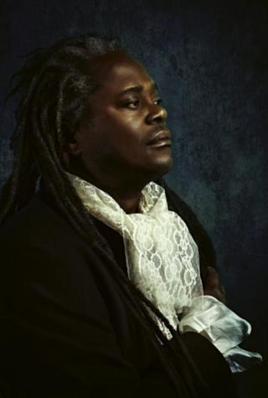 Portrait by Alanna Airitam showing a man