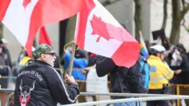 A far-right protest was held in May to oppose Canadian migration policy