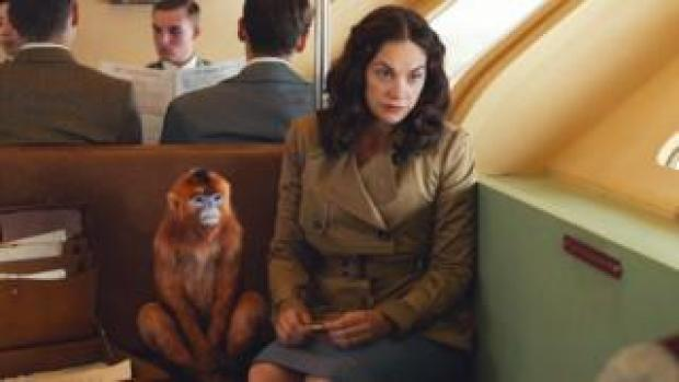 Ruth Wilson and friend in His Dark Materials