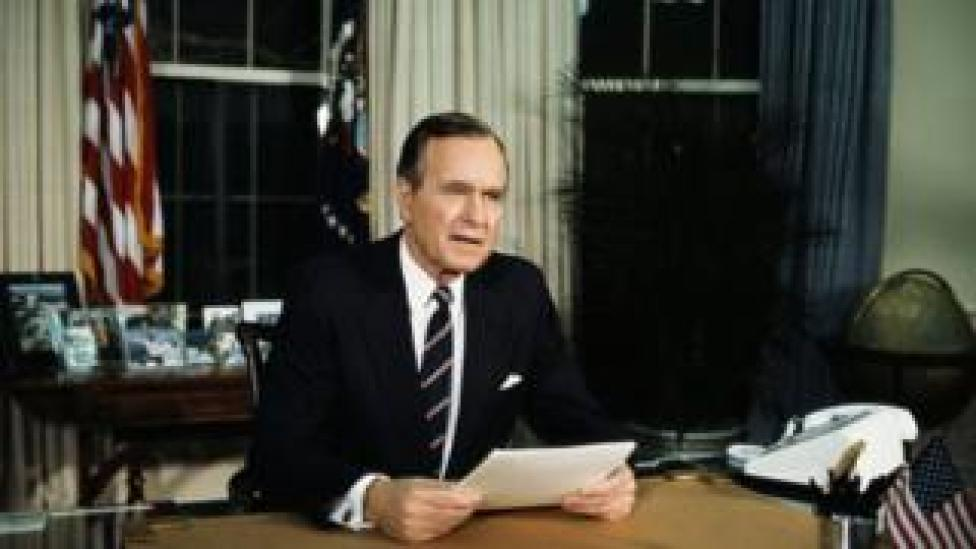 trump President Bush Speaking from the Oval Office