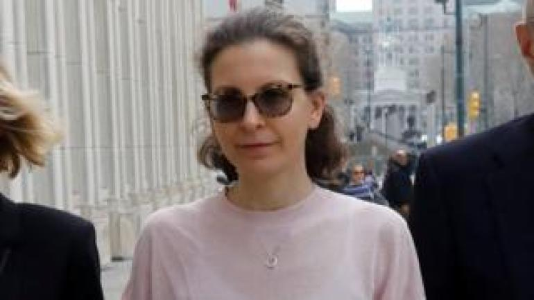 Clare Bronfman at plea hearing last year