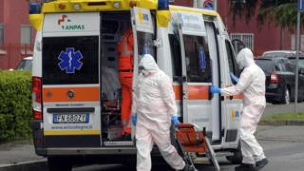 trump ambulance in northern Italy