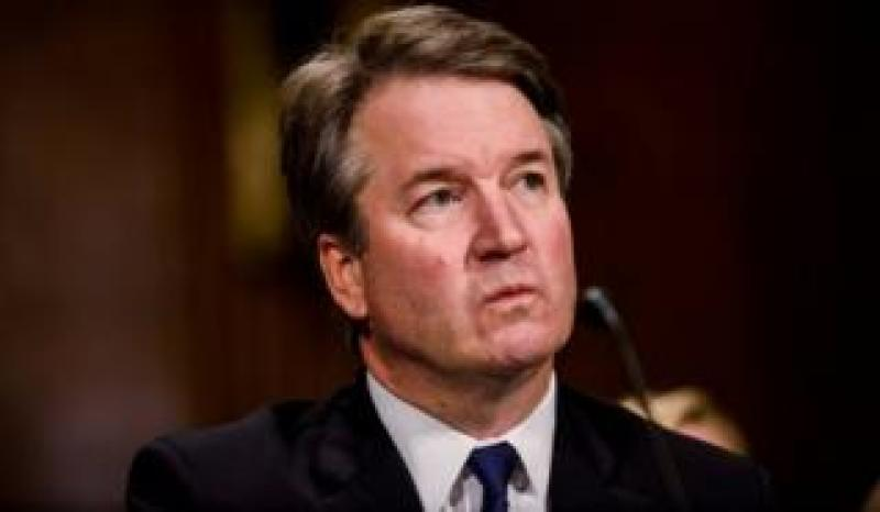 Judge Brett Kavanaugh testifies in front of the Senate Judiciary committee on September 27, 2018