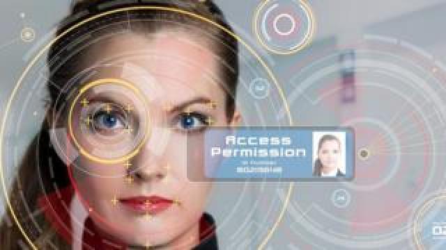Women with biometrics mock-up