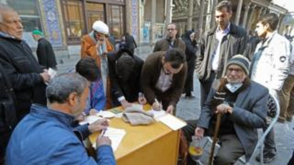 trump Residents of Tehran casts their votes in Friday's election