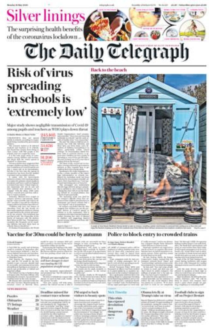 The Daily Telegraph 18 May 2020