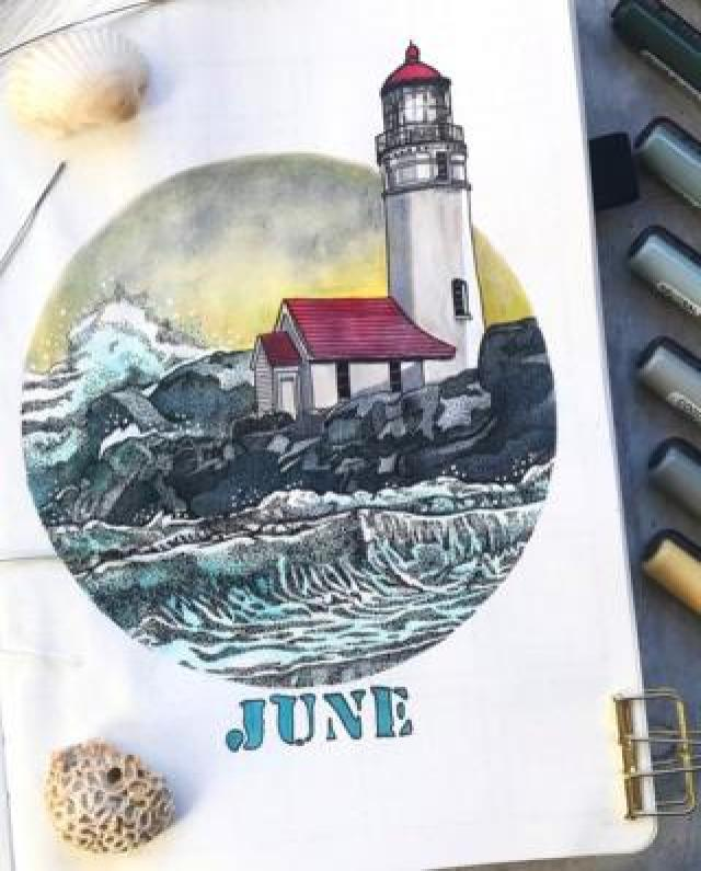 A page from a bullet journal. Susanne, Germany