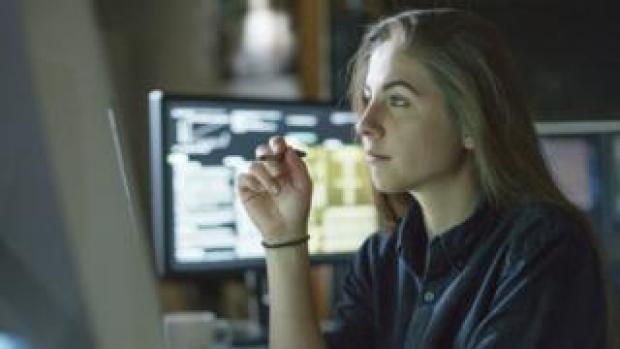 A software developer at work