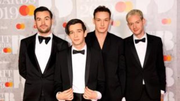Ross MacDonald, Matthew Healy, George Daniel and Adam Hann of The 1975