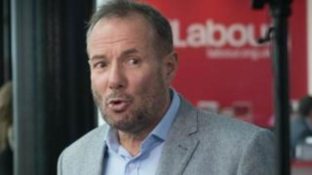 Derek Hatton at Labour Party conference