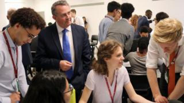 Liam Fox at training scheme launch