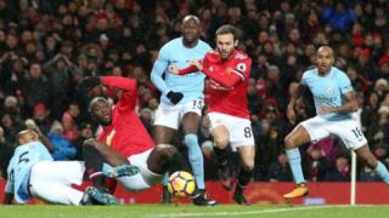 Man Utd v Man City in the Premier League on 10 December