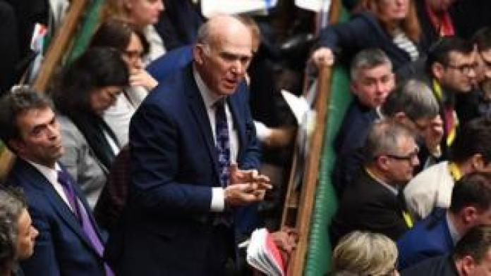 Sir Vince Cable speaking in the House of Commons