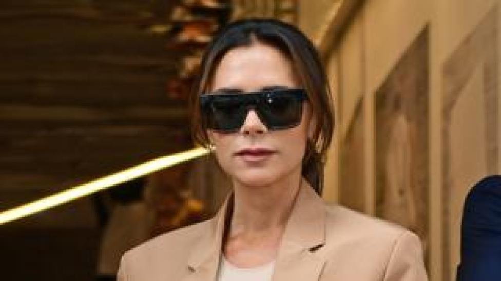 Victoria Beckham after her debut London Fashion Week Show