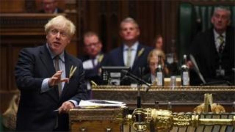 Boris Johnson in the Commons