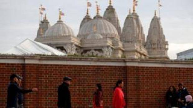 Hindu temple in Neasden, London