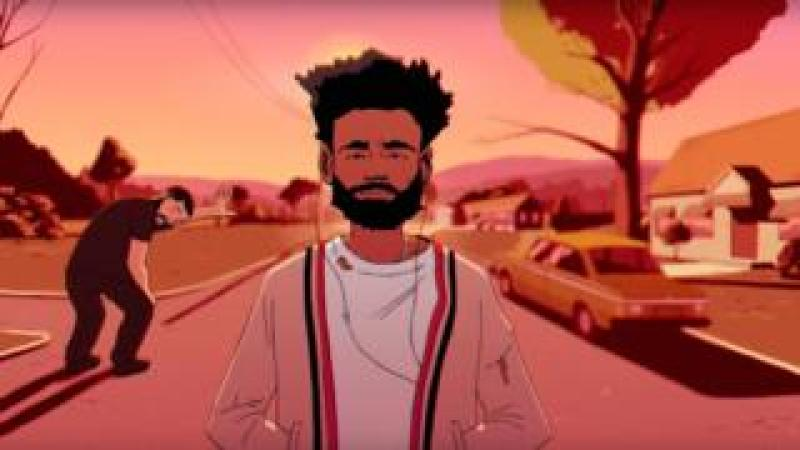 Childish Gambino and Drake in the video for Feels Like Summer