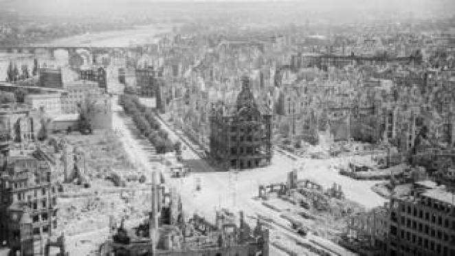 Dresden after the bombing in 1945